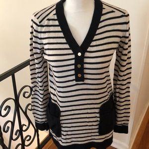 Tory Burch striped sweater in cream & navy